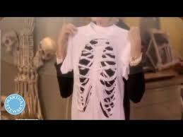 diy skeleton t shirt martha stewart