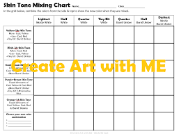 Artist Color Mixing Chart Skin Tone Mixing Chart Create Art With Me