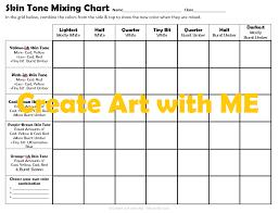Skin Tone Mixing Chart Create Art With Me