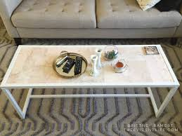 marble coffee table diy theevidentlife com how to tile a coffee table