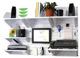 office wall organizer system. Wall-Mounted Home \u0026 Office Organizer Kit - White Wall Panels With Accessories System
