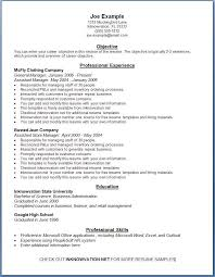 Basic Resume Tips 89 Exciting Example Of A Simple Resume Examples