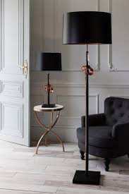special order design elegant sculptural art metal floor lamp bronze stem copper knot