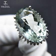 "TBJ,<b>Big</b> green amethyst quartz <b>gemstone</b> Party""eyes catching"" Ring ..."