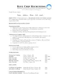 Objectives For Resume Samples Best Job Objectives For Resume Data