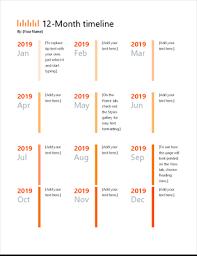 Timeline Photo Template 12 Month Timeline