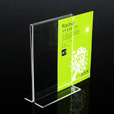 Menu Display Stands Restaurant 100cm100cm Countertop T Style Clear Acrylic Sign Holders A100 Menu 24