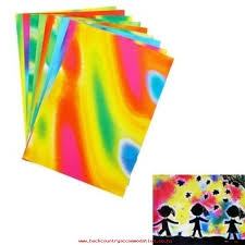 10 pcs set doodle pad painting card bright colorful drawing paperkids diy apply intl
