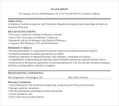 sample resumes for pharmacy technician pharmacy technician cover letter examples