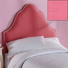 Amazon.com - Bella Twin Headboard Upholstered Pink Headboard with ... & Bella Twin Headboard Upholstered Pink Headboard with White Nailhead Detail Adamdwight.com