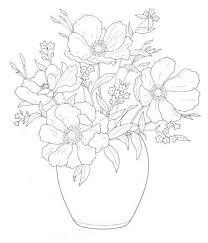 Boeketten Kleurplaat Kleurplaten Van Bloemen Coloring Flowers
