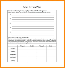 Example Sales Action Plan Sample Example Action Plan Template Social Media Action Plan Sample