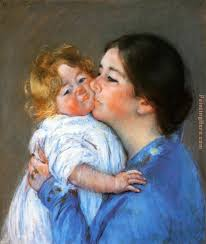 a kiss for baby anne painting mary cassatt a kiss for baby anne art painting