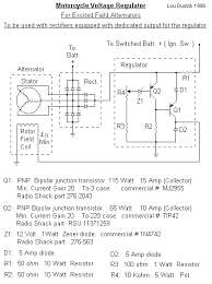 voltage regulator for excited field alternators schematic for volt reg