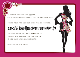 party invite examples bachelorette invitation template