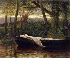 the golden age of victorian watercolors walter crane lady of shalott 1862