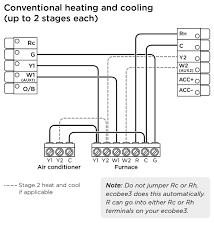 ecobee3 wiring diagrams ecobee support conventional heating cooling