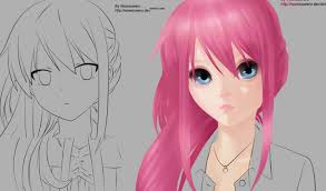 Hair Style Anime part 2 how to paint realistic anime hair youtube 6273 by wearticles.com