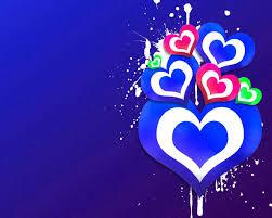 3D love blue heart 3d wallpaper hd for ...