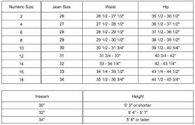 jean size converter denim sizes chart dolap magnetband co