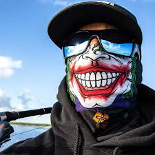 Halloween Face Shield Neck Gaiter Jester Clown Face Sa Team