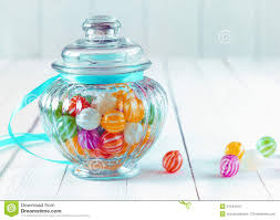 Decorative Glass Candy Jars Colourful Candy In A Decorative Jar Stock Image Image of festive 17