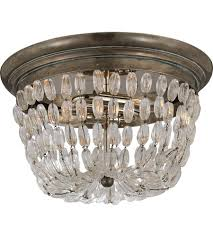 visual comfort chc4207shs sg e f chapman paris flea market 2 light 13 inch sheffield silver flush mount ceiling light