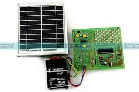 solar powered led street light with auto intensity control components used kit