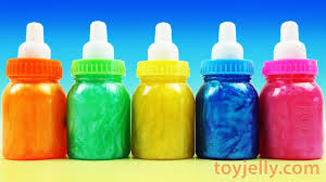 Learn Colors Baby Milk Bottle Clay Slime Surprise Toys Shopkins