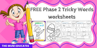 A comprehensive collection of resources to help with the teaching of phase 6 of the dfes letters and sounds teaching programme. Free Phase 2 Tricky Words Worksheets Reception Early Years The Mum Educates