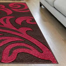 modern area brown red rug for living room