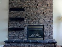 25 Fascinating Stacked Stone Fireplace Designs SloDive.