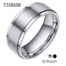 6/8mm New Black <b>Carbon Fiber</b> Men's Ring Tungsten Carbide ...