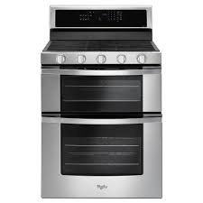 6 burner stove with double oven. Fine Burner Double Oven Gas Range With Center Oval Burner In Stainless Inside 6 Stove With