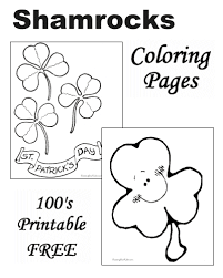 Shamrock Coloring Page Shamrock Coloring Pages Pictures And Printables