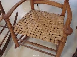 hickory bark rocker seat