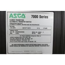 used 400 amp automatic transfer switch by asco 7000 series asco 7000 series automatic transfer switch wiring diagram used 400 amp automatic transfer switch by asco 7000 series e7actbc3400n5x ats