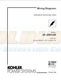 industrial engines transfer switches wiring diagram manuals kohler product literature tp 5851