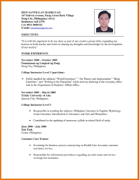 Curriculum Vitae Sample For Teachers Meltemplates