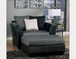 leather oversized chairs for two with grey and black color design plus three diffe color pillows