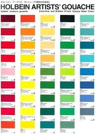 Unfolded Acrylic Color Conversion Chart Acrylic Color