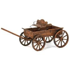 malibu creations uncovered wagon garden cart