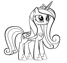 Small Picture Pictures Princess Cadence Coloring Pages 14 In Line Drawings with