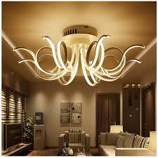 modern linear led ceiling light fashion home furnishings warm living room bedroom iron lighting ceiling lamps