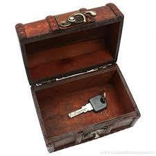 buorsa mini small vintage wood lock jewelry storage box necklace treasure storage organizer holder b07bqxf14s