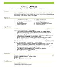 Free Resume Templates For Teachers Fascinating Teacher Resume Builder Template Big Teacher Example Emphasis 48 Free