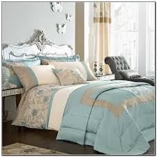 master bedroom with duck egg blue and brown bedding also erfly wall decorating ideas