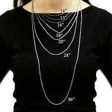 Chain Size Chart Inch Necklace Size Chart Eves Addiction