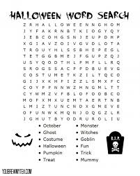Free Halloween Word Search Printables – Fun for Christmas