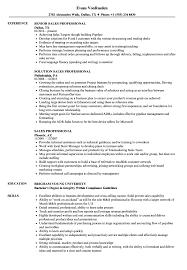 Sales Professional Resume Samples Velvet Jobs